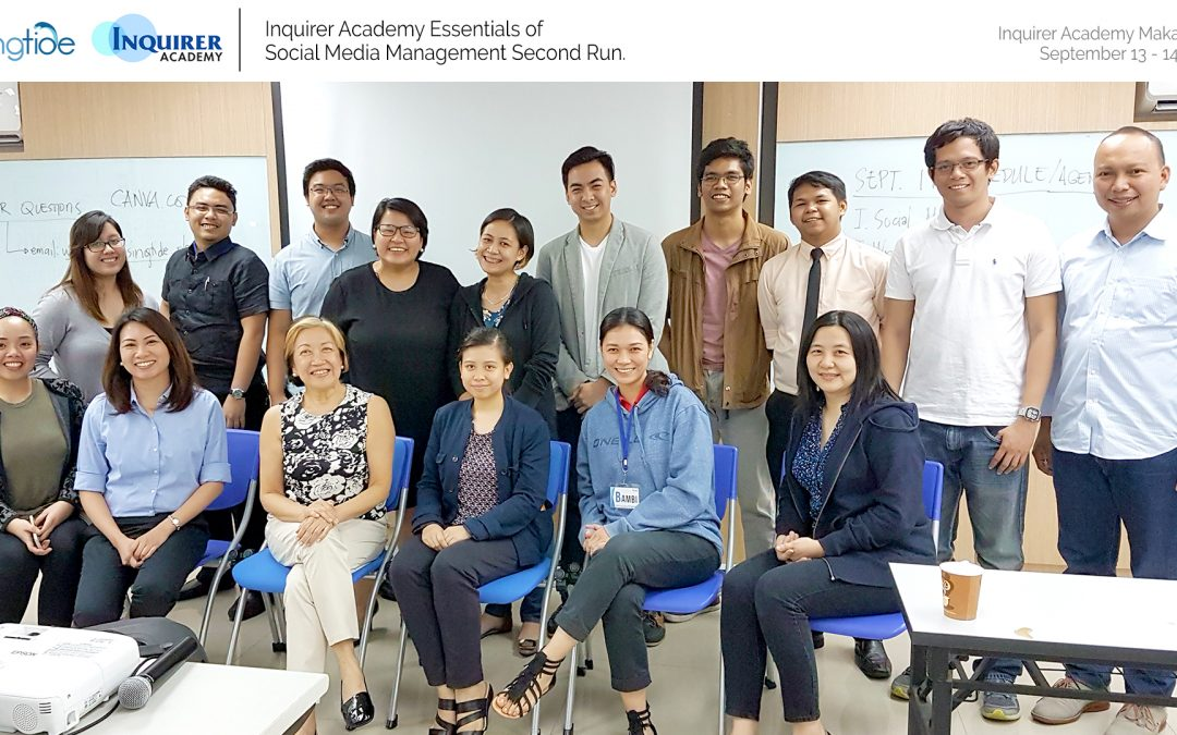 Inquirer Academy's Essentials of Social Media Management Second Run