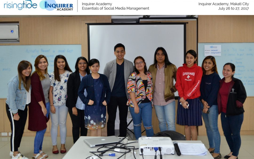 Inquirer Academy's Essentials of Social Media Management Third Run